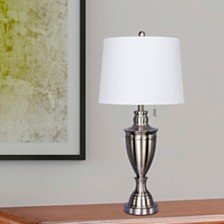 "Fangio Lighting's 1587BS 31"" Classic Urn Brushed Steel Table Lamp"