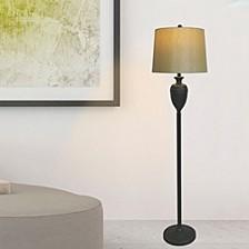 "1591BZ 61"" Metal Decorative Urn Floor Lamp"