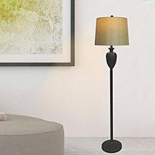 """Fangio Lighting's 1591BZ 61"""" Metal Decorative Urn Floor Lamp"""