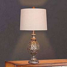 "Fangio Lighting's 1600 27"" Moroccan Pedestal Urn Metal Table Lamp"
