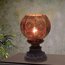 "Fangio Lighting's 1605 9"" Moroccan Circle Weave Metal Uplight"