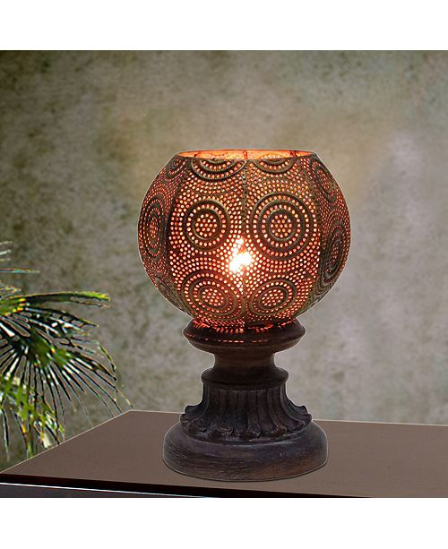 "FANGIO LIGHTING 1605 9"" Moroccan Circle Weave Metal Uplight"