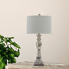 "5159 Pair of 27.5"" Mercury Glass And Steel Table Lamps"