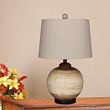 "6254BEG 24"" 2-Tone Resin Urn Table Lamp"