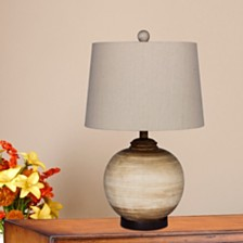"Fangio Lighting's 6254BEG 24"" 2-Tone Resin Urn Table Lamp"