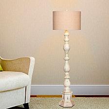 """Fangio Lighting's 6259 63"""" Totemic Antique Resin Floor Lamp"""