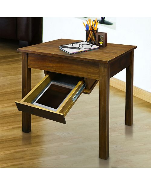 Yu Shan Kennedy End Table With Concealed Drawer Concealment