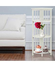 4 - Shelf Corner Folding Bookcase