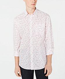 DKNY Men's Regular-Fit Floral Ditsy-Print Shirt
