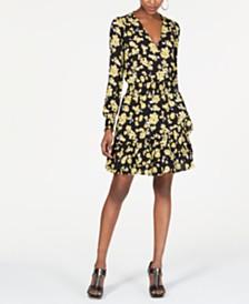 Michael Michael Kors Smocked Surplice Dress