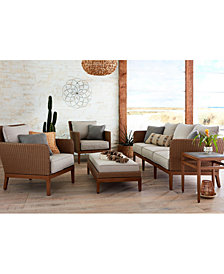 CLOSEOUT! San Lazzaro Woven Outdoor Sofa, Created For Macy's