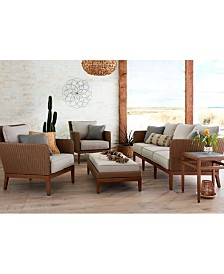 San Lazzaro Woven Outdoor Sofa, Created For Macy's