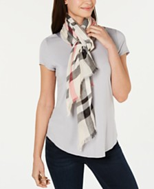 V. Fraas Large Classic Plaid Wrap
