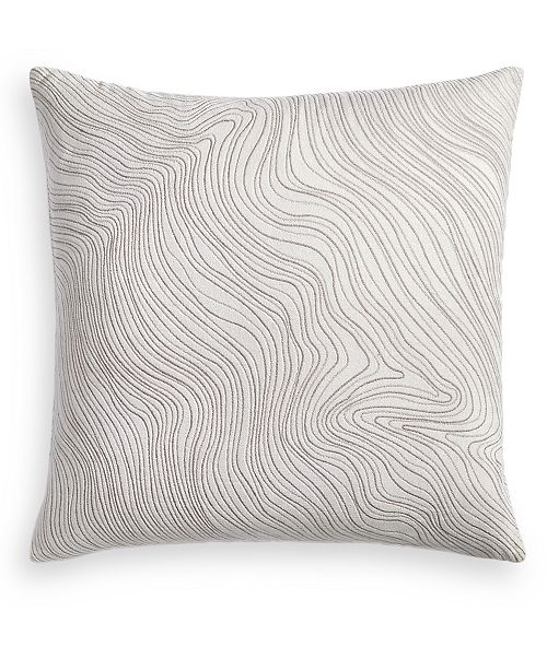 "Hotel Collection Silverwood 22"" x 22"" Decorative Pillow, Created for Macy's"