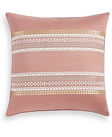 Woodblock Stripe Cotton European Sham, Created for Macy's
