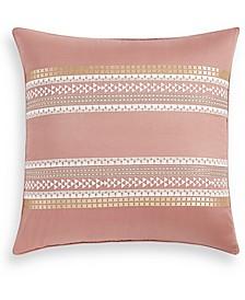 Woodblock Stripe Cotton European Sham, Created for Macy's