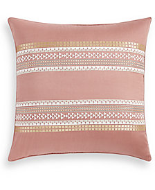 Lucky Brand Woodblock Stripe Cotton European Sham, Created for Macy's