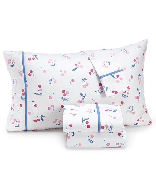 Whim By Martha Collection Novelty Print Standard Pillowcase Pair 200 Thread Count 100 Cotton Percale Created For Macy S