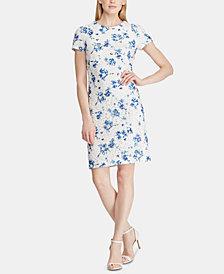 Lauren Ralph Lauren Petite Floral-Print Lace Dress