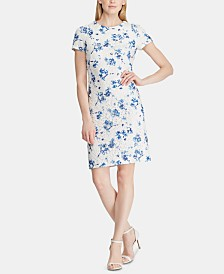 Lauren Ralph Lauren Petite Floral-Print Lace Dress