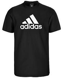 adidas Big Boys Logo Rash Guard