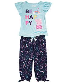 Peppa Pig Toddler Girls 2-Pc. Happy Pajama Set