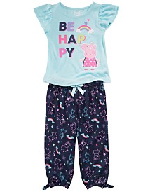Peppa Pig Toddler Girls 2-Pc. Happy Pajama Set