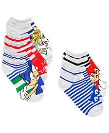 Planet Sox Little Boys 5-Pk. Sonic the Hedgehog No-Show Socks