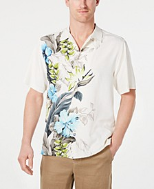 Men's Big & Tall Garden of Hope & Courage Silk Hawaiian Shirt