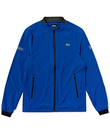 Lacoste Men's Novak Djokovic Zip-Front Logo Jacket