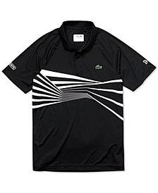 Lacoste Men's Novak Djokovic Center Geo Print Ultra Dry Polo