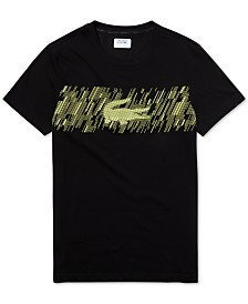 Lacoste Men's Brushed Croc-Print Graphic T-Shirt
