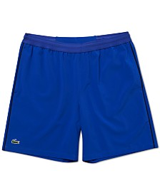 "Lacoste Men's Novak Djokovic Stretch Taffeta 7"" Shorts"