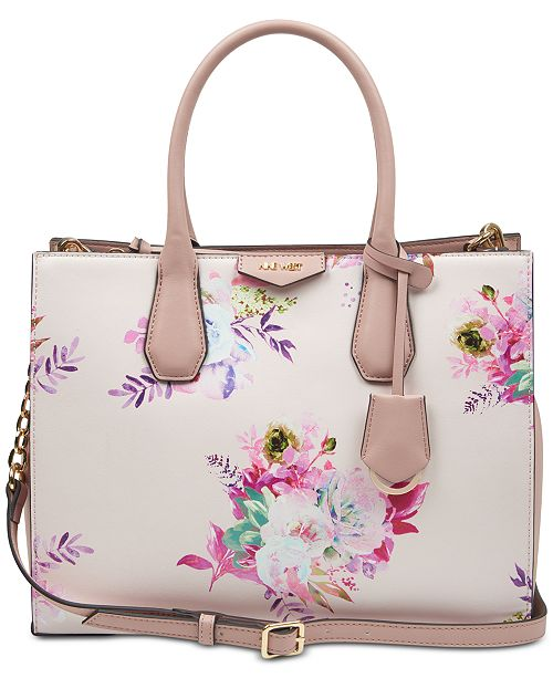 Nine West Maddol Floral Jet Set Tote
