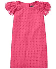 Polo Ralph Lauren Little Girls Eyelet Woven Cotton Dress
