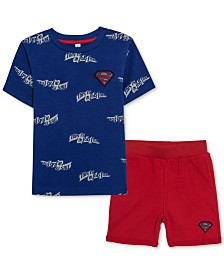 DC Comics Superman Little Boys T-Shirt & Shorts Set
