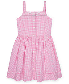 Polo Ralph Lauren Big Girls Gingham Cotton Dress