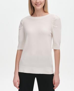 Calvin Klein Shorts BOAT-NECK SHORT-SLEEVE TOP