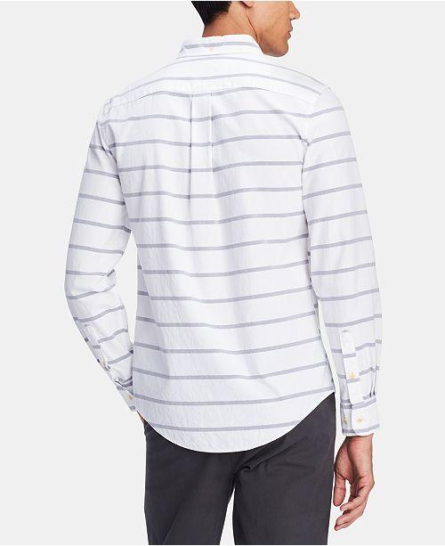 ded6a6ca ... Tommy Hilfiger Men's Alvin Custom-Fit Stripe Contrast-Placket Shirt ...