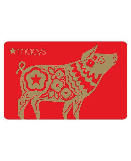 Macy's Lunar NY 2019 E-Gift  Card