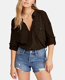Free People Penelope Button-Down Top
