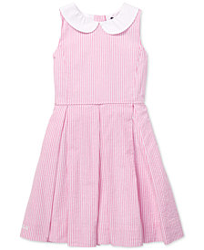 Polo Ralph Lauren Little Girls Seersucker Fit & Flare Cotton Dress