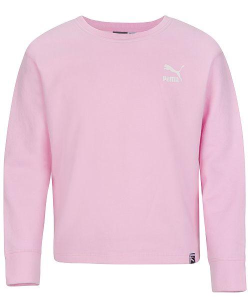 Puma Big Girls Logo-Print Sweatshirt