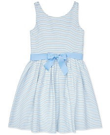 Polo Ralph Lauren Big Girls Striped Fit & Flare Cotton Dress