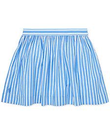 Polo Ralph Lauren Little Girls Striped Cotton Skirt
