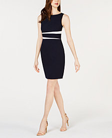 Vince Camuto Petite Colorblocked Bodycon Dress