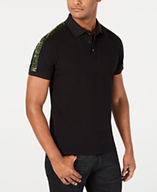 Just Cavalli Men's Regular-Fit Logo Taped Polo