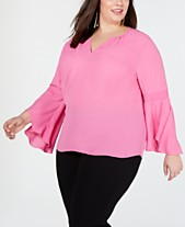 21ac2f3f8d5 Clearance Closeout Plus Size Tops - Macy s