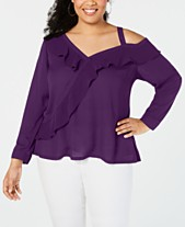 3f4e7d352812b Plus Size Tops - Womens Plus Size Blouses   Shirts - Macy s