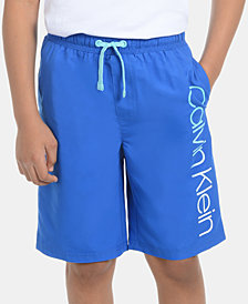 Calvin Klein Big Boys Classic Logo Volley Swimsuit